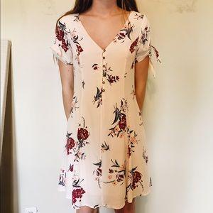 ASTR off-white floral dress